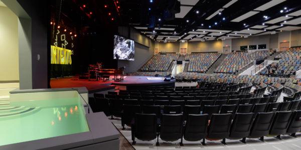 2000 seat sancturary, baptistry, Compassion Christian Church, Savannah, GA