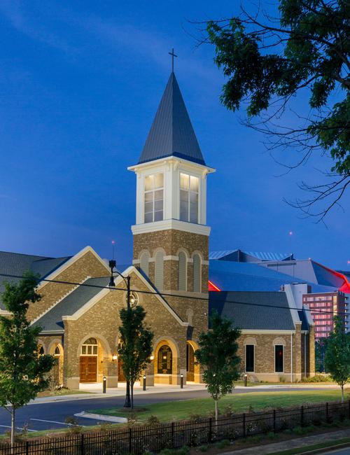 Friendship Baptist Church - Exterior at Night