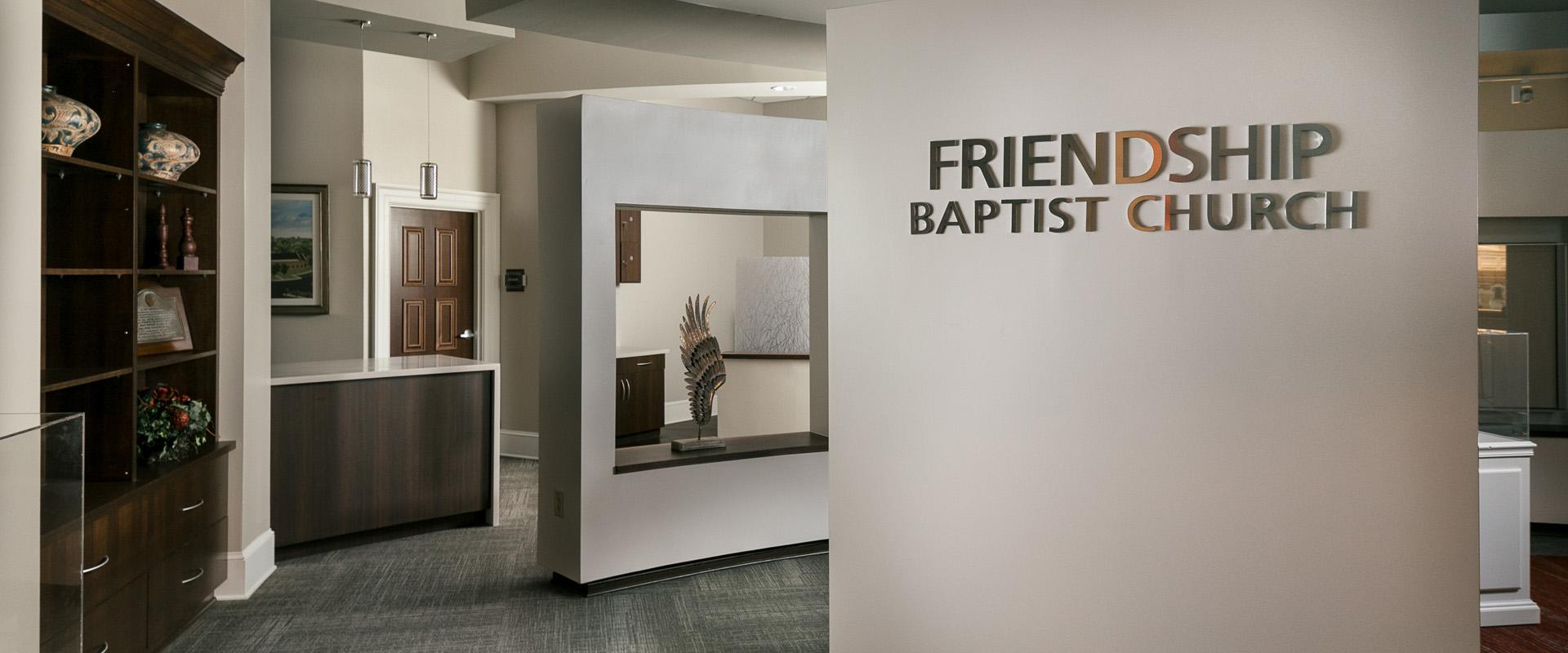 Friendship Baptist Church - Interior