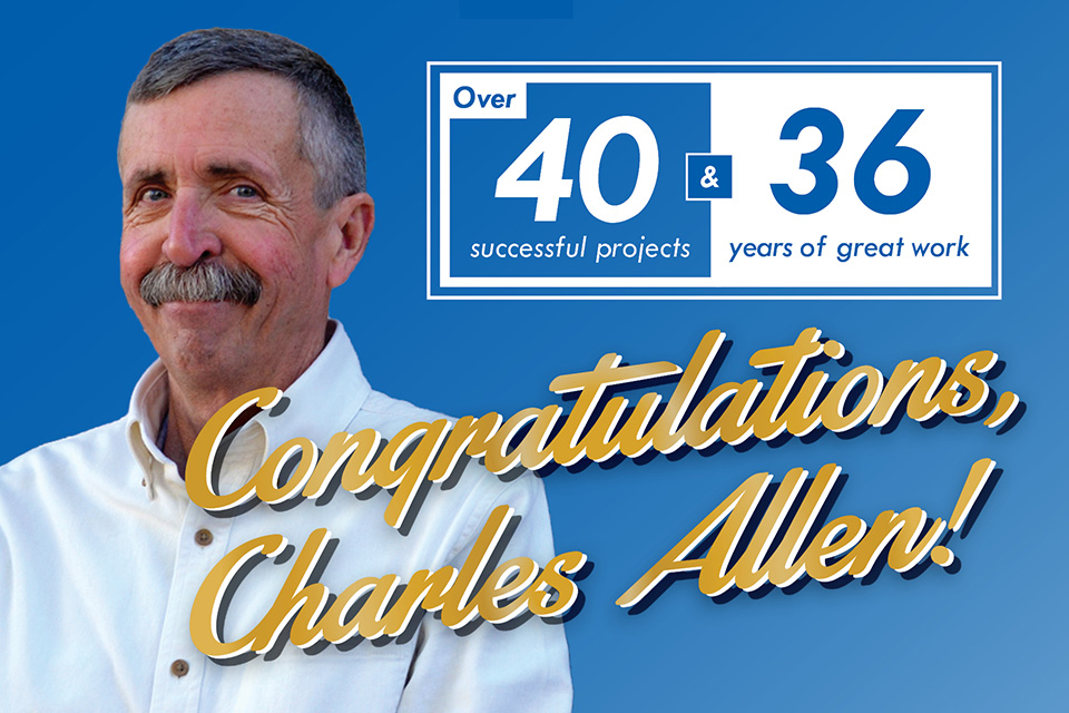 Congratulations Charles Allen!