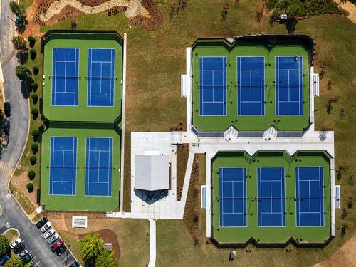 Whitefield Academy-Tennis Complex - Bird's Eye View
