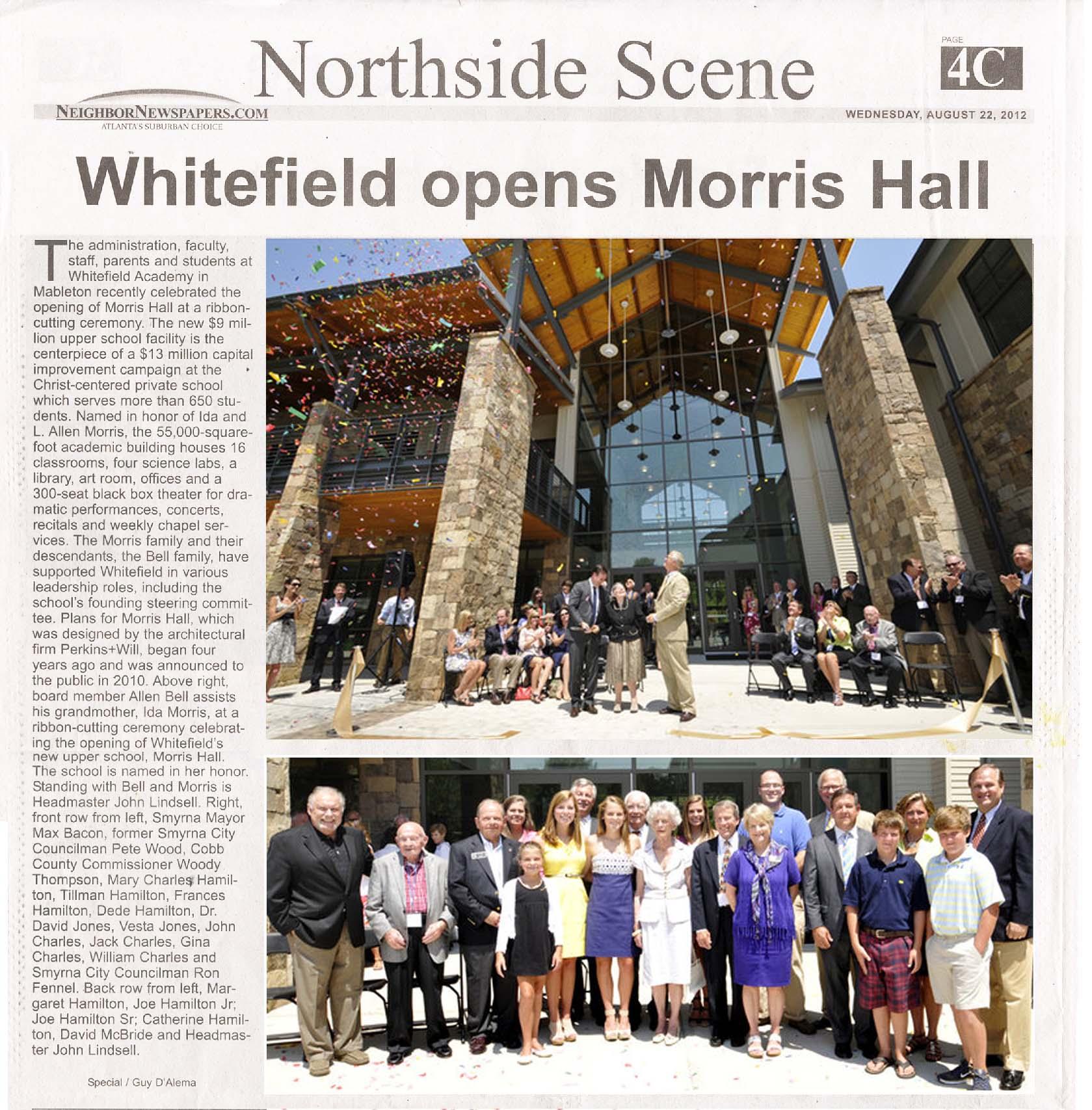 Van Winkle Finishes Morris Hall – Mableton, GA